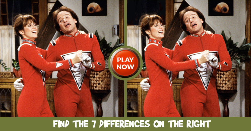 MisMatch- Find all 7 Differences between these Mork and Mindy Pictures