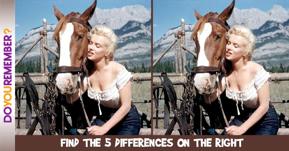 """Marilyn Monroe in """"The River of No Return"""""""